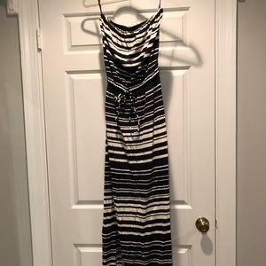 Jcrew stripe maxi dress